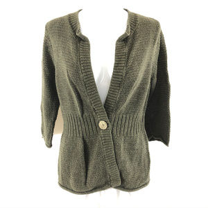 Eddie Bauer Womens Cardigan Sweater One Button L